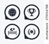 volleyball and net icons.... | Shutterstock .eps vector #370416788