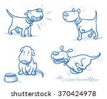 Cute Cartoon Dog Set. Snarling...
