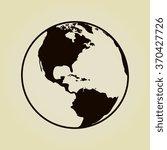 vector globe icons | Shutterstock .eps vector #370427726