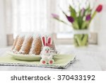 sugar easter bunny with cake in ...   Shutterstock . vector #370433192
