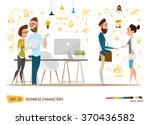 business cartoon characters... | Shutterstock .eps vector #370436582