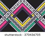 geometric ethnic pattern... | Shutterstock .eps vector #370436705