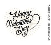 happy valentine's day... | Shutterstock .eps vector #370438892