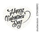happy valentine's day... | Shutterstock .eps vector #370438892