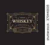western whiskey label vintage... | Shutterstock .eps vector #370440035