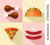 vector flat style icons set of... | Shutterstock .eps vector #370443356