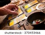 Fortune Teller Holding A Tarot...