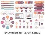 set of infographic design... | Shutterstock .eps vector #370453832