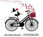 love birds on bicycle | Shutterstock .eps vector #370458185