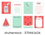 cooking cards  notes  stickers  ... | Shutterstock .eps vector #370461626