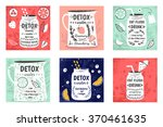 cooking cards  notes  stickers  ... | Shutterstock .eps vector #370461635