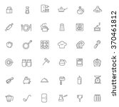 outline icon collection  ...   Shutterstock .eps vector #370461812