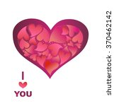 greeting with lovely heart | Shutterstock . vector #370462142