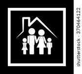 family and house icon | Shutterstock .eps vector #370464122