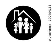 family and house icon | Shutterstock .eps vector #370464185