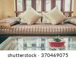pillow on sofa decoration... | Shutterstock . vector #370469075