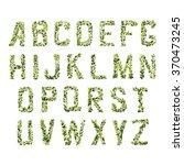 foliage decorative green font.... | Shutterstock .eps vector #370473245
