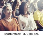 audience casual conference... | Shutterstock . vector #370481426
