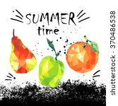 summer time banner with... | Shutterstock .eps vector #370486538