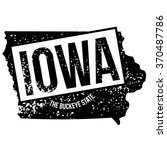 rubber stamp of iowa  the... | Shutterstock . vector #370487786