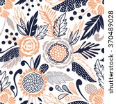 seamless floral pattern | Shutterstock .eps vector #370489028