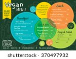 colorful organic food vegan... | Shutterstock .eps vector #370497932
