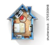 concept of home. flat full of... | Shutterstock . vector #370530848