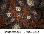 abstract shining puzzles on... | Shutterstock . vector #370533215