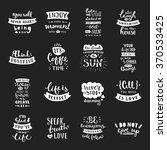 vector calligraphy. hand drawn... | Shutterstock .eps vector #370533425