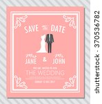 wedding invitation card. cute... | Shutterstock .eps vector #370536782