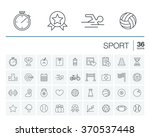 vector thin line rounded icons... | Shutterstock .eps vector #370537448
