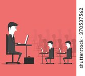 managing sitting in the office... | Shutterstock . vector #370537562