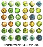 hand drawn marker trees  top... | Shutterstock . vector #370545008
