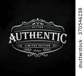 western hand drawn frame... | Shutterstock .eps vector #370546238