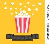 popcorn. film strip ribbon line.... | Shutterstock .eps vector #370549142