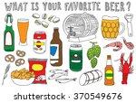 beer doodles set | Shutterstock .eps vector #370549676