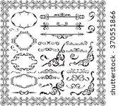 baroque fine swirl set isolated ... | Shutterstock .eps vector #370551866