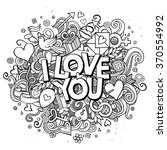 cartoon vector hand drawn... | Shutterstock .eps vector #370554992