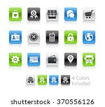 on line store icons   the file... | Shutterstock .eps vector #370556126