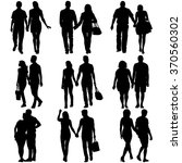 couples man and woman... | Shutterstock .eps vector #370560302