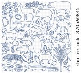 hand drawn south america set.... | Shutterstock .eps vector #370560845