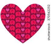 elephant heart valentine   Shutterstock .eps vector #370562252