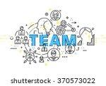 flat style  thin line art... | Shutterstock .eps vector #370573022