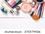various make up products on... | Shutterstock . vector #370579406