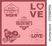 set of valentine's day labels. | Shutterstock .eps vector #370580906