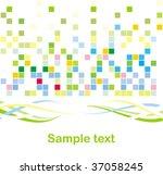 mosaic background | Shutterstock .eps vector #37058245