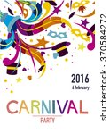 carnival party poster with... | Shutterstock .eps vector #370584272