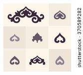 set of ornamental elements in... | Shutterstock .eps vector #370589282