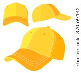 the yellow cap on white... | Shutterstock .eps vector #370597142