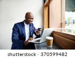 portrait of happy african... | Shutterstock . vector #370599482